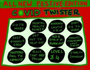 "Covid ""Twister"" game - all new festive edition"