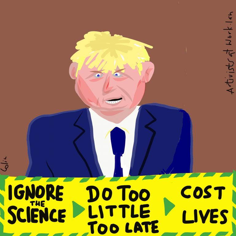 An cartoon of Boris Johnson