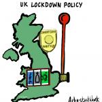 """A map of the UK as if it's a slot machine, with a coin slot saying """"Serco"""""""