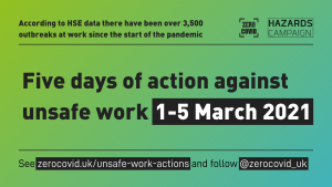 Five days of action against unsafe work 1-5 March
