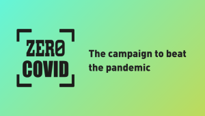 An image with the Zero Covid logo and slogan 'The campaign to beat the pandemic'