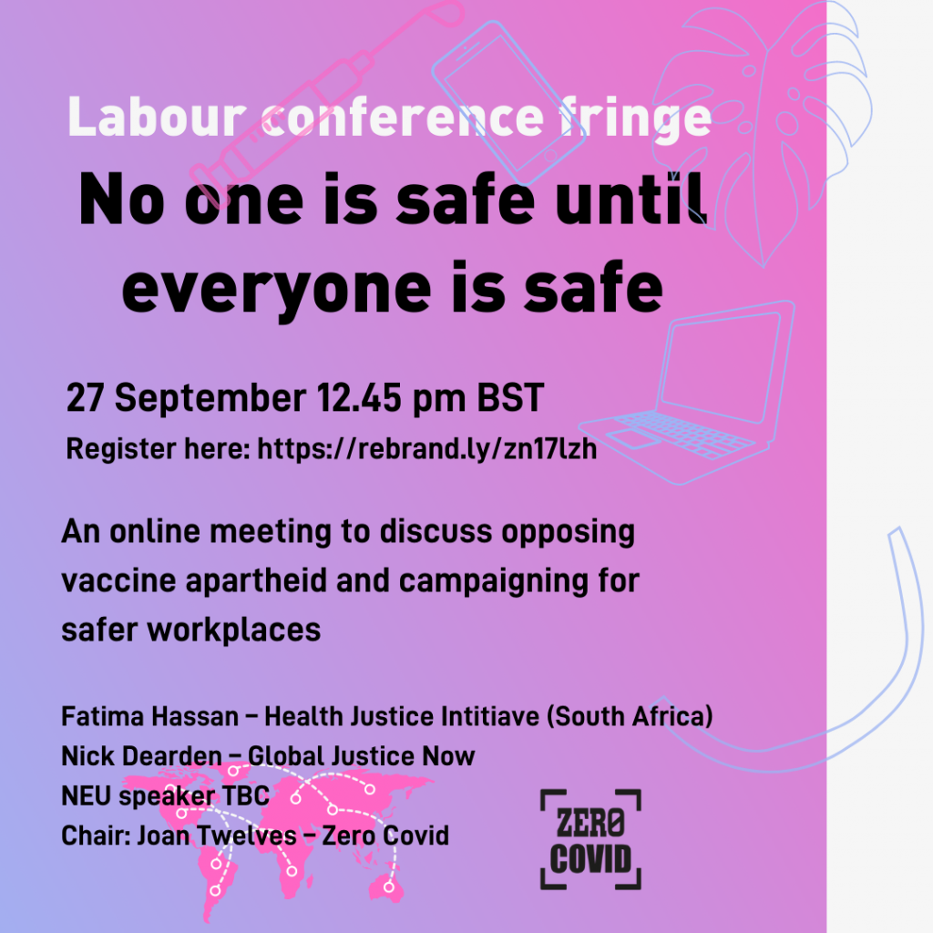 Advert for Labour Party conference fringe